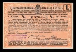 1933. Det Danske Kolonial- (Klasse) Lotteri. 1. Klasse. 54. Lotteri.  (Michel: ) - JF500368 - Danemark