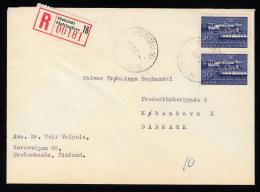 1962. 2x 30 M TRAIN HELSINKI 1.11.62. (Michel: 544) - JF500353 - Briefe U. Dokumente