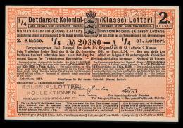 1931. Det Danske Kolonial- (Klasse) Lotteri. 2. Klasse. 51. Lotteri.  (Michel: ) - JF500364 - Non Classés