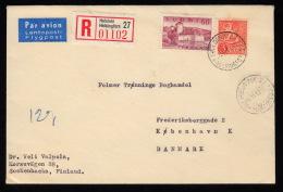 1957. Castle. 60 M.  + 3 HELSINKI 6.11.62.  (Michel: 475) - JF500354 - Briefe U. Dokumente