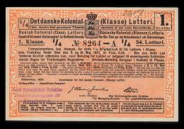 1933. Det Danske Kolonial- (Klasse) Lotteri. 1. Klasse. 54. Lotteri.  (Michel: ) - JF500367 - Danemark