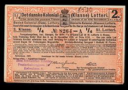1931. Det Danske Kolonial- (Klasse) Lotteri. 2. Klasse. 51. Lotteri.  (Michel: ) - JF500366 - Non Classés