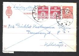 1946. SØNDAGSBREV GRENAA 20.4.46. 2x 5 ØRE + 20 ØRE CHR X KORRESPONDANCEKORT.  (Michel: 244) - JF500403 - Non Classés