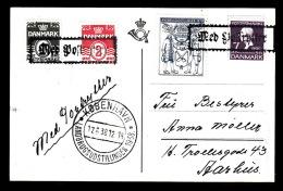 1938. KØBENHAVN LANDBRUGSUDSTILLINGEN 1938 17.6.38. + Med Postrytter 1 + 2 + 7 ØRE HC A... (Michel: 223) - JF500509 - Danemark