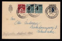 1935. KUGLEPOSTEN NÆSTVED - KØBENHAVN 4. JULI 1935. 2 + 2x 4/25 ØRE + 5/3 BREVKORT.  (Michel: 215) - JF500512 - Denmark