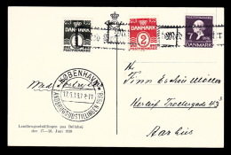 1938. KØBENHAVN LANDBRUGSUDSTILLINGEN 1938 17.6.38. + Med Postrytter 1 + 2 + 7 ØRE HC A... (Michel: 223) - JF500511 - Danemark