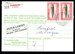 1987. Fylgiblad  2x 900 ØRE FUGLAFJÖRDUR PR TORSHAVN 14.8.87.  (Michel: 89) - JF500536 - Féroé (Iles)