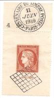 TIMBRE PREMIER JOUR 11 Juin 1949 -EXPOSITION PHILATELIQUE INTERNATIONALE DE PARIS (CITEX) - France