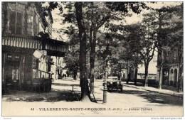 94 VILLENEUVE-Saint-GEORGES  Avenue Carnot-animée ,belle Voiture Cabriolet - Villeneuve Saint Georges