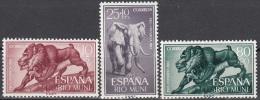 Rio Muni 1961 Michel 18 - 20 Neuf ** Cote (2002) 0.50 Euro Elephant Et Mandrill - Riu Muni