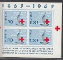 SWISTERLAND MNH** MICHEL BL 19 RED CROSS ROTES KREUZ - Blocs & Feuillets