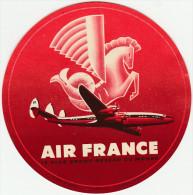 DOC2) ETICHETTA PER BAGAGLI LABEL FOR LUGGAGE AIR FRANCE 1954 ROSSO RED CIRCA - Aviazione Commerciale