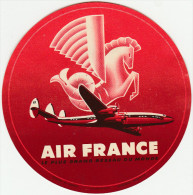 DOC2) ETICHETTA PER BAGAGLI LABEL FOR LUGGAGE AIR FRANCE 1954 ROSSO RED CIRCA - Non Classificati