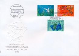 Switzerland 1992 FDC Rhine River - Pro Familia - Chemical Nomenclature - FDC