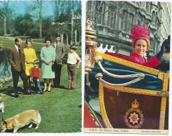 -Lot De 2 Cartes Scan R/V=1 : The Royal Family At Frogmore 2: H.R.H The Princess Anne In The Royal Coach*PRIX FIXE - Non Classificati