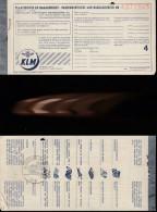 DOC2) KLM ROYAL DUTCH AIRLINES PASSENGER TICKET 1954 LITTLE HOLES STAPPLED - Biglietti