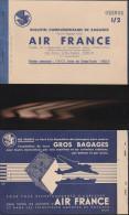 DOC2) AIR FRANCE BULLETTIN DE BAGAGES 1953 CIRCA LITTLE HOLES STAPPLED - Biglietti