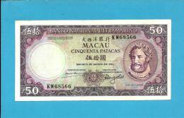 MACAO MACAU - 50 PATACAS - 8.8.1981 - P 60b - LUÍS DE CAMÕES - Portugal - Macau