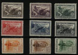 02228 España EDIFIL 792 - 800 *  Catalogo 725,-€ - 1931-50 Unused Stamps