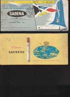 DOC2) SABENA BIGLIETTO PASSEGGERO E BAGAGLIO PASSENGER TICKET AND BAGGAGE CHECK 1951 - Biglietti