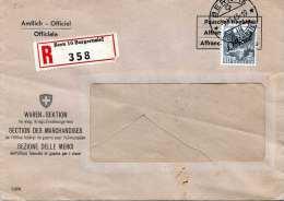SCHWEIZ 1945 - 40 C Auf R-Firmen Brief Des Kriegs-Ernährungs-Amt