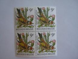 België Belgique Belgium 1985 Vogels Oiseaux Buzin Putter Chardonneret BLOC DE 4 Yv 2190 Yv 2187 MNH ** - 1985-.. Vogels (Buzin)