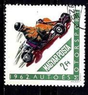 HONGRIE 1537° 2fo  Vert Et Polychrome Sports Motocyclistes Et Automobiles Kart  (10% De La Cote + 0,15) - Hongrie