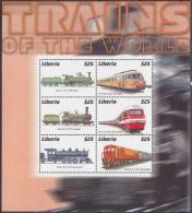 Liberia MiNr. Klbg. 3917/22 ** Lokomotiven Aus Aller Welt - Liberia