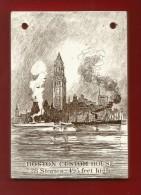 Wunderschöner Kalender Von 1915 Aus USA - Mit Werbung - Kleine Kachel / Fliese - Ca. 8,5 X 12 Cm - - Reklame