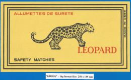RUSSIA , Export Matchbox Label  (big Format) - Leopard - Boites D'allumettes - Etiquettes