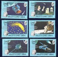 MINT NEVER HINGED SET OF STAMPS OF SPACE OP IN SILVER  ( GAMBIA  650-3  HALLEY'S COMET - Zonder Classificatie