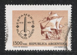 Argentina 1981 Scott #1324 (U) Espamer  Emblem And Ship - Argentine