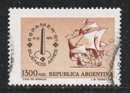 Argentina 1981. Scott #1324 (U) Espamer  Emblem And Ship ** - Usati