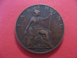 Grande-Bretagne - UK - Farthing 1905 Edward VII 3840 - 1902-1971 : Post-Victorian Coins