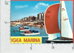 CARTOLINA VG ITALIA - IGEA MARINA (RN) - Alberghi E Spiaggia - 10 X 15 - ANN. 1980 - Rimini