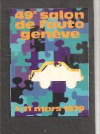 1979 Salon De L'auto De Geneve Vignette Poster Stamp - Switzerland