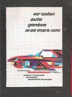 1970 Salon De L'auto De Geneve Vignette Poster Stamp - Switzerland