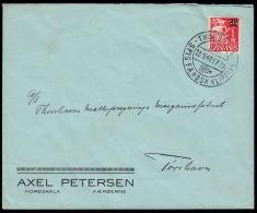 1940. Provisional Issue.  20 Øre On 15 Øre Red Karavel. THORSHAVN FÆRØERNE SPIS FÆRØSK ... (Michel: 4) - JF500577 - Faroe Islands
