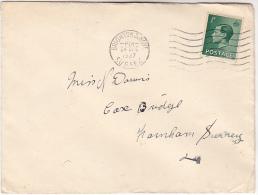 1937 Brighton GB E8 Stamps COVER Eviii - 1902-1951 (Könige)