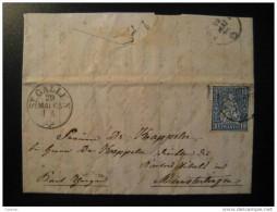 St. Gallen 1865 To Munsterlingen Münsterlingen - Lettres & Documents