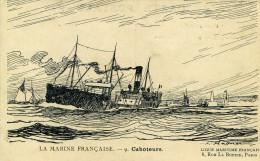 BATEAUX - CPA -  Illustration Haffner - LA MARINE FRANCAISE - 9 - Caboteurs, Ligue Maritime Française - Other