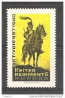 Reiter Regiment 6 1940 Horses Chevaux Soldatenmarken - Viñetas