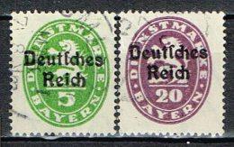 Deutsches Reich 1920 , Dienst  Mi. 34 + 37 Gestemp. / Used / Oblitaire - Gebraucht