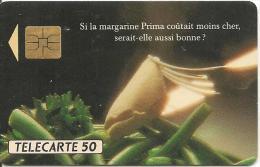 CARTE°-PUCE-PRIVEE-PUBLIC- 50U-EN321-SO3-03/92-MARGARINE PRIMA-R°Mat-UTILISE-TBE - 50 Einheiten