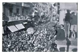 MALTA - CARNIVAL IN VALLETTA REPRO.POSTCARD SIZE PHOTO - 1930s - - Reproductions