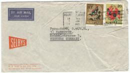 AUSTRALIA - 1969 - Airmail - Anemone Fish + Sturt's Desert Pea + Flamme All Day, Every Day, Telepost - Viaggiata Da M... - 1966-79 Elizabeth II