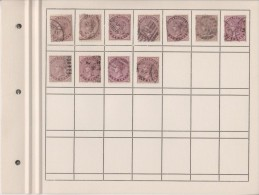 EXTRA8-27 10 USED STAMPS.  DIFFERENT CANCELLATIONS. - 1882-1901 Imperio