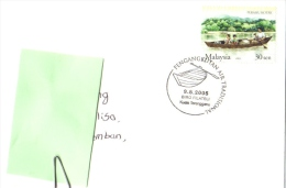 17E : Malaysia Rowing Boat, Sampan First Day Pictorial Postmark On Card/cover - Transport
