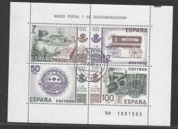 SPAIN USED MICHEL BL 24 POST MUSEUM - Blocs & Feuillets