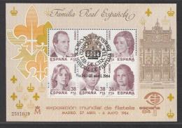 SPAIN USED MICHEL BL 27 ESPANA 1984 - Blocs & Feuillets